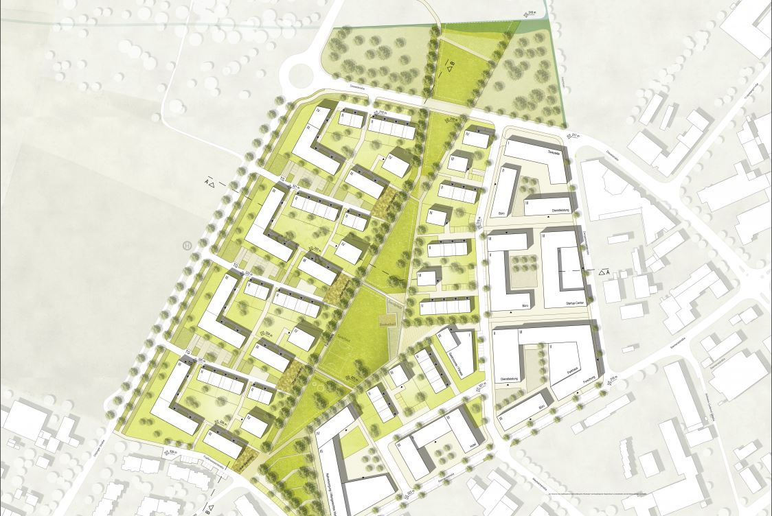 Auszug aus dem städtebaulichen Entwurf des Büros DNR Daab Nordheim Reutler PartGmbB